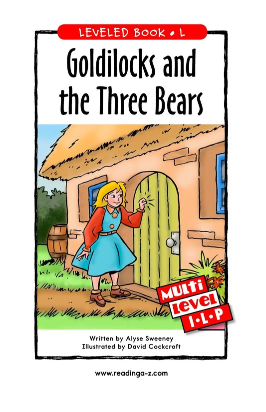Book Preview For Goldilocks and the Three Bears Page 1