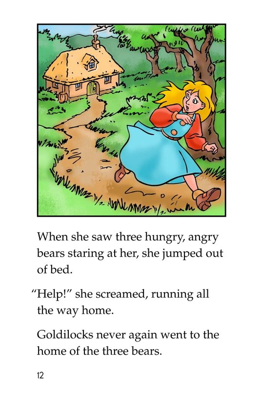 Book Preview For Goldilocks and the Three Bears Page 12