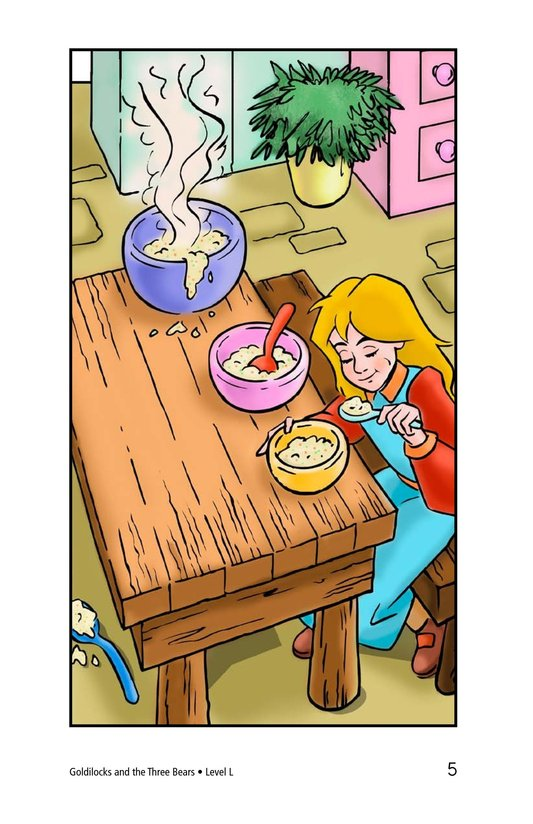 Book Preview For Goldilocks and the Three Bears Page 5