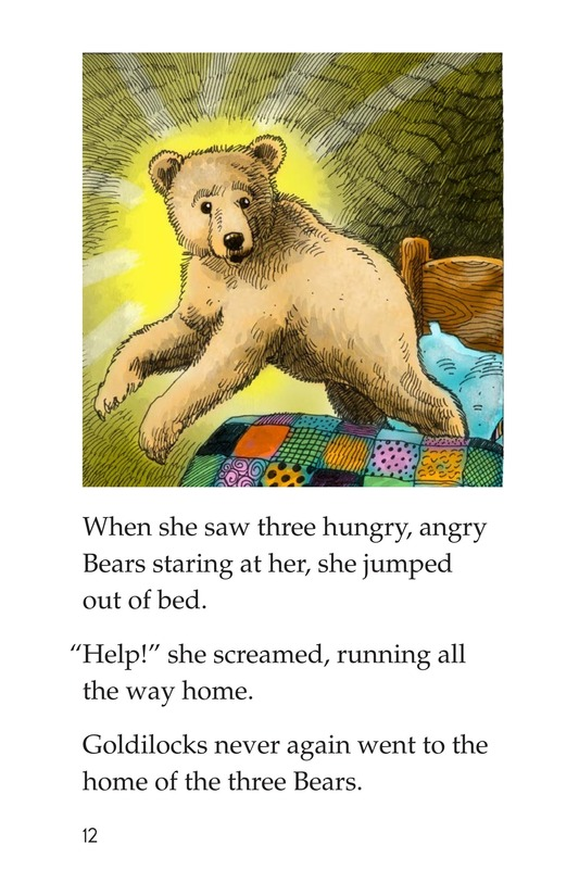 Book Preview For Goldilocks and the Other Three Bears Page 12