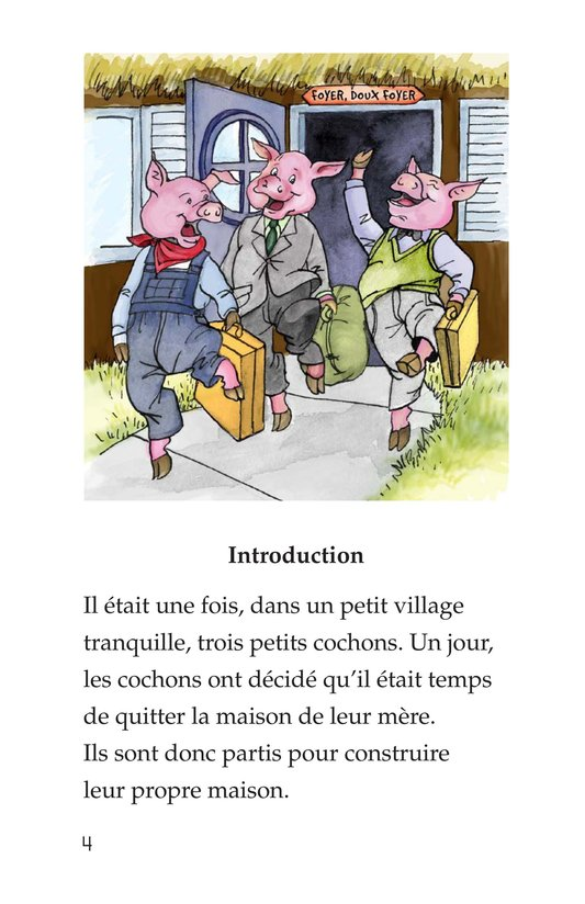 Book Preview For The Three Little Pigs Page 4