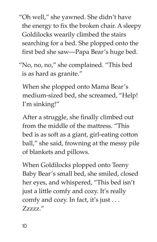 Book Preview For Goldilocks and the Three Bears Page 10