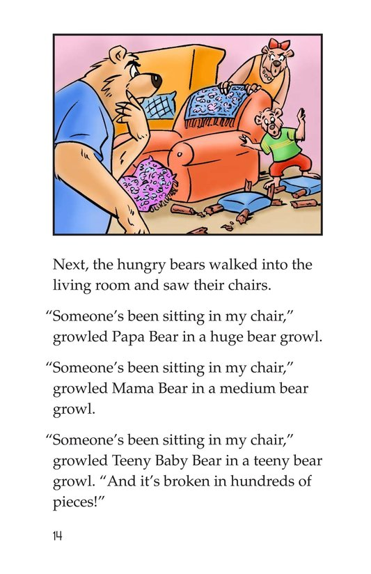 Book Preview For Goldilocks and the Three Bears Page 14