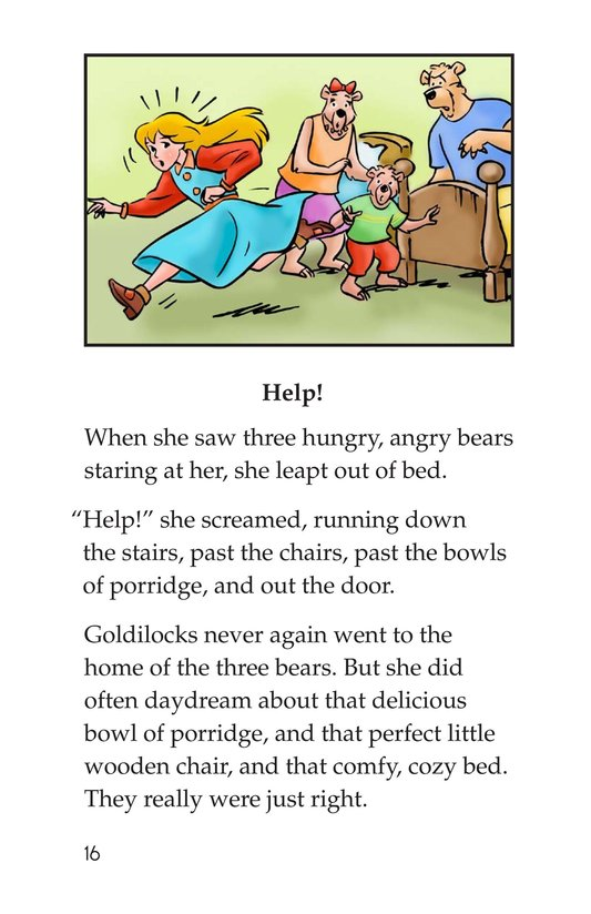 Book Preview For Goldilocks and the Three Bears Page 16