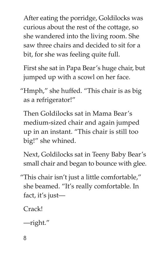 Book Preview For Goldilocks and the Three Bears Page 8
