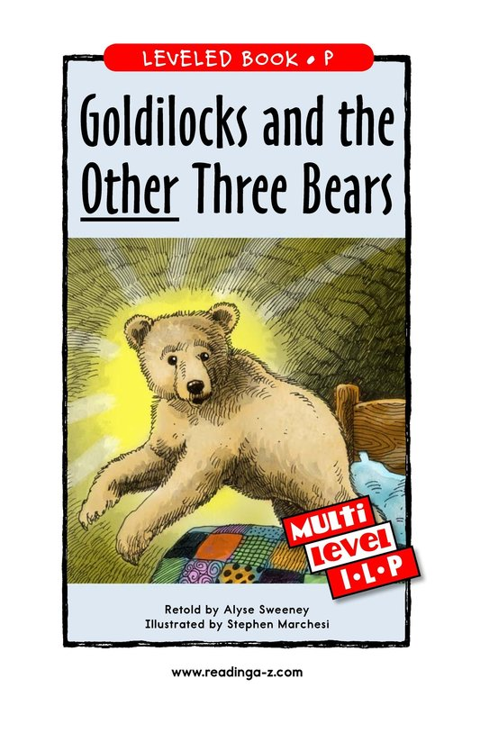 Book Preview For Goldilocks and the Other Three Bears Page 1