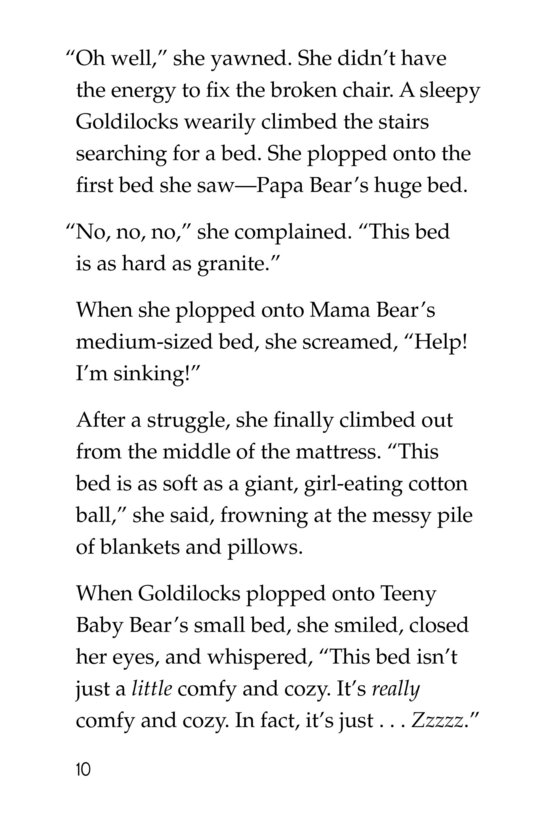 Book Preview For Goldilocks and the Other Three Bears Page 10