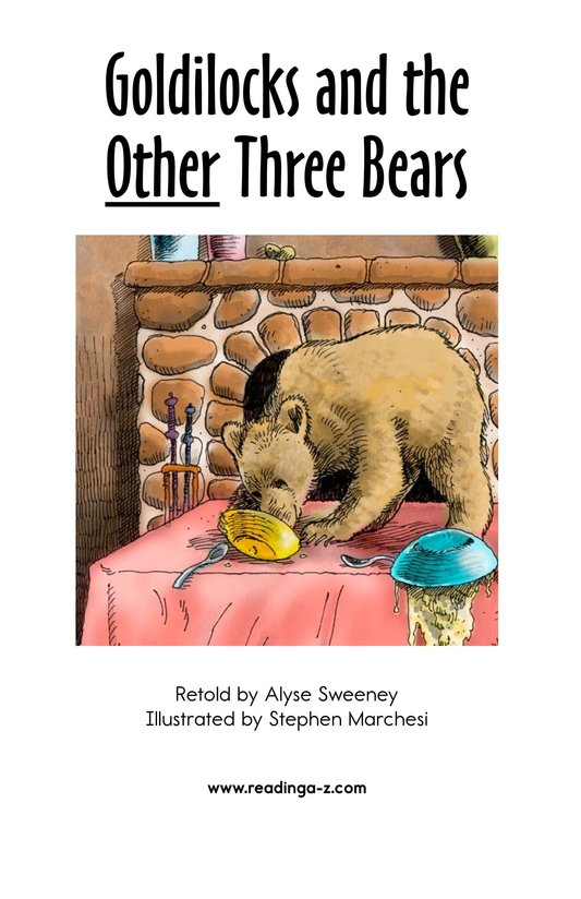 Book Preview For Goldilocks and the Other Three Bears Page 2