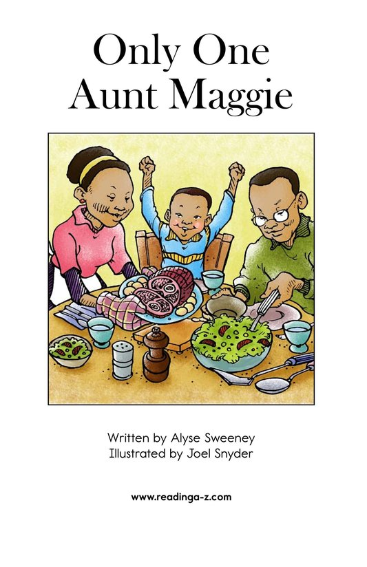 Book Preview For Only One Aunt Maggie Page 2