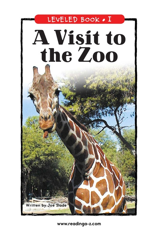 Book Preview For A Visit to the Zoo Page 1