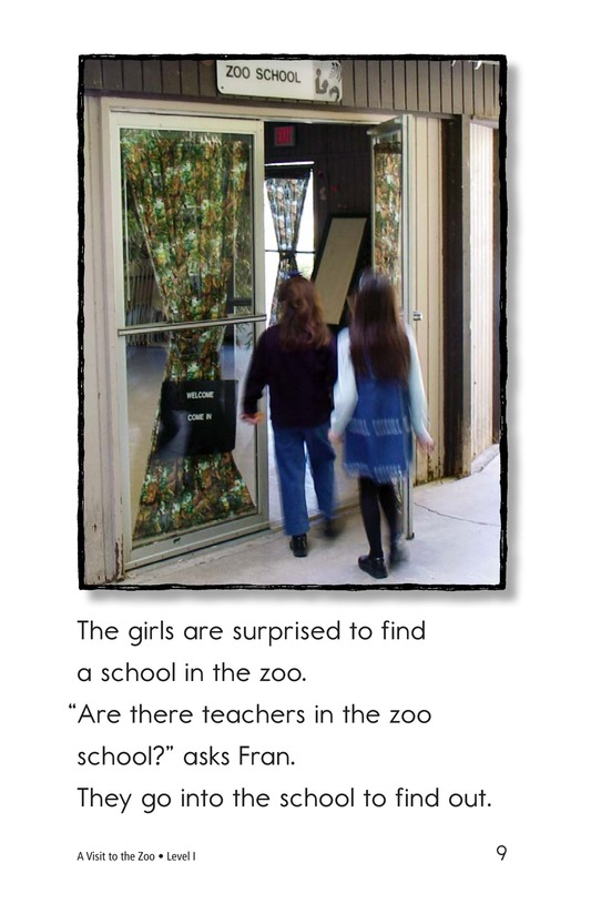 Book Preview For A Visit to the Zoo Page 9