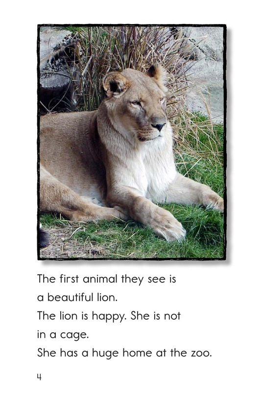 Book Preview For A Visit to the Zoo Page 4