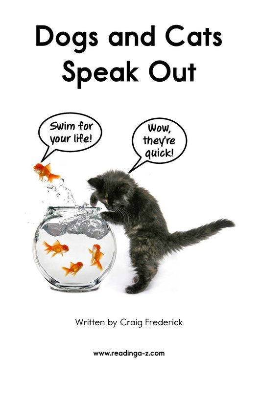 Book Preview For Dogs and Cats Speak Out Page 2
