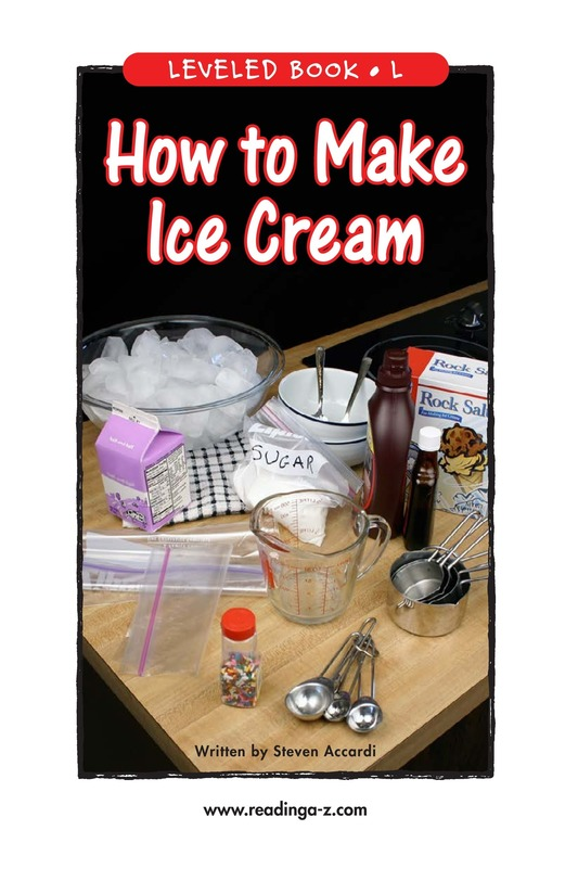 Book Preview For How to Make Ice Cream Page 1