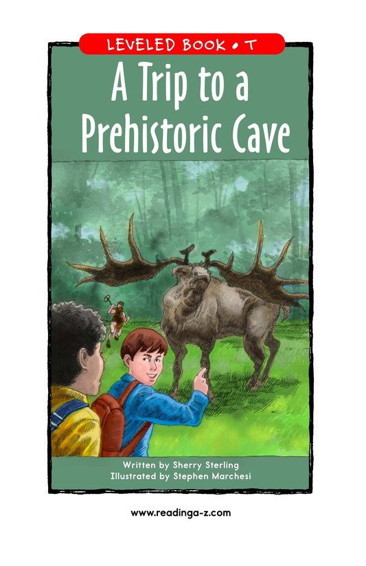 Book Preview For A Trip to a Prehistoric Cave Page 1