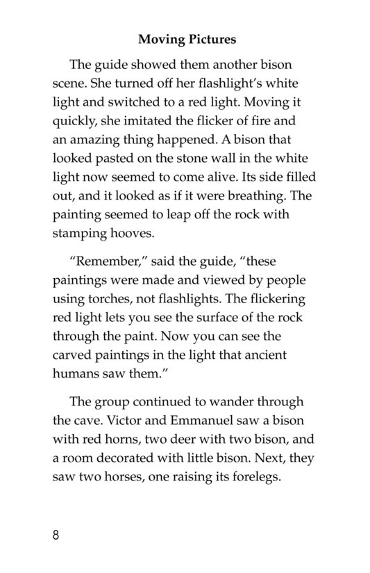 Book Preview For A Trip to a Prehistoric Cave Page 8