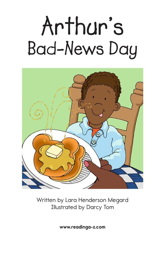 Book Preview For Arthur's Bad-News Day Page 2