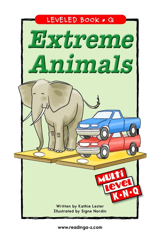 Book Preview For Extreme Animals Page 1