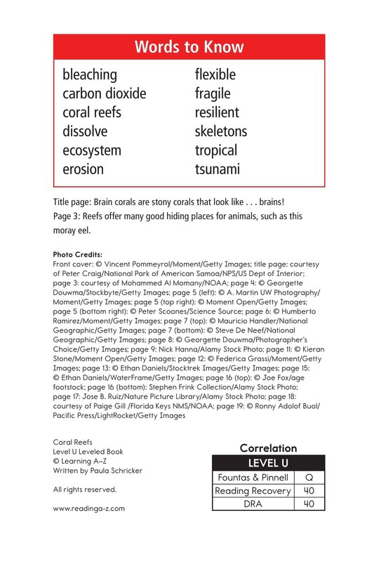 Book Preview For Coral Reefs Page 2