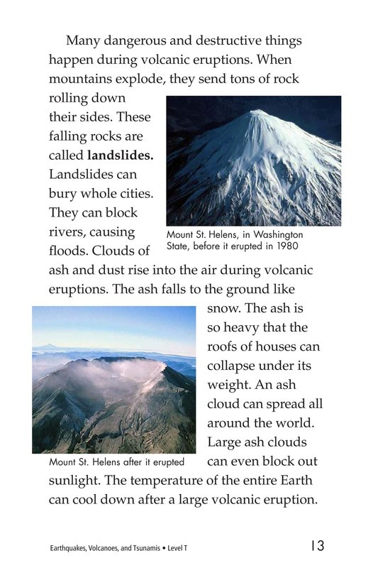 Book Preview For Earthquakes, Volcanoes, and Tsunamis Page 13