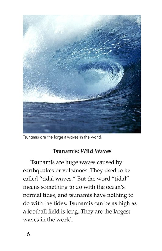 Book Preview For Earthquakes, Volcanoes, and Tsunamis Page 16