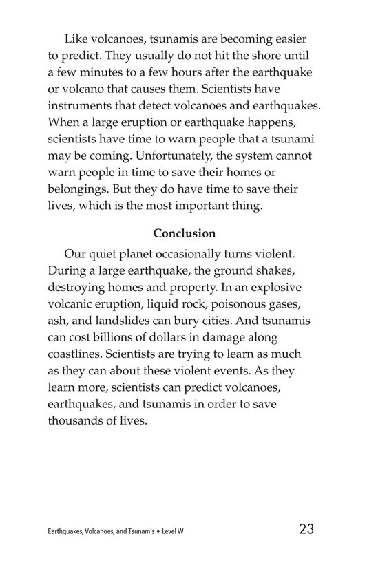 Book Preview For Earthquakes, Volcanoes, and Tsunamis Page 23