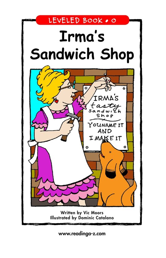 Book Preview For Irma's Sandwich Shop Page 1