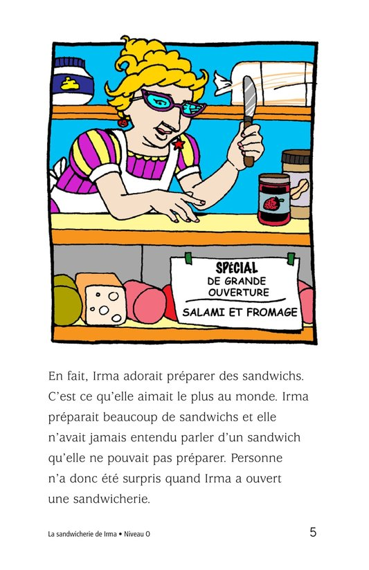 Book Preview For Irma's Sandwich Shop Page 5