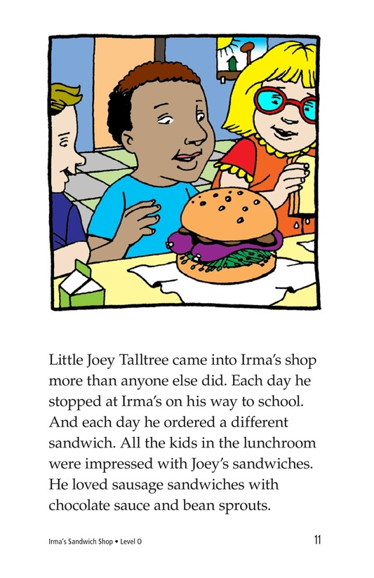 Book Preview For Irma's Sandwich Shop Page 11