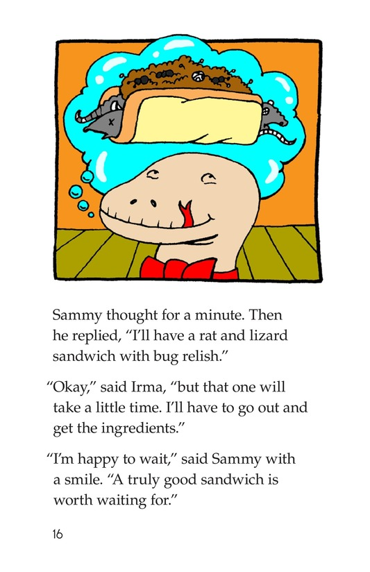 Book Preview For Irma's Sandwich Shop Page 16