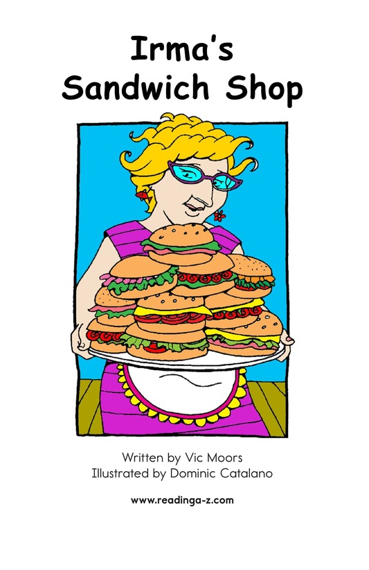 Book Preview For Irma's Sandwich Shop Page 2