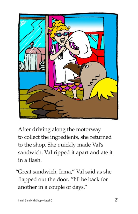 Book Preview For Irma's Sandwich Shop Page 21