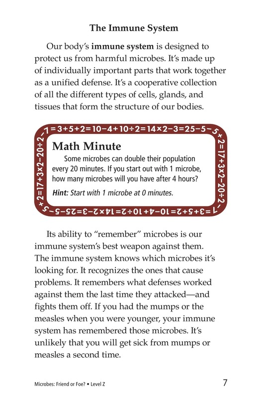 Book Preview For Microbes: Friend or Foe? Page 7