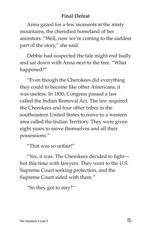 Book Preview For The Cherokees Page 15
