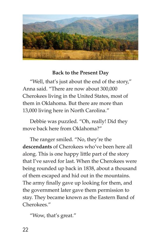 Book Preview For The Cherokees Page 22