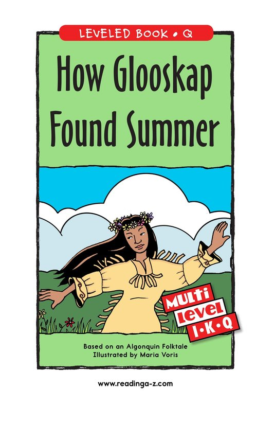 Book Preview For How Glooskap Found Summer Page 1