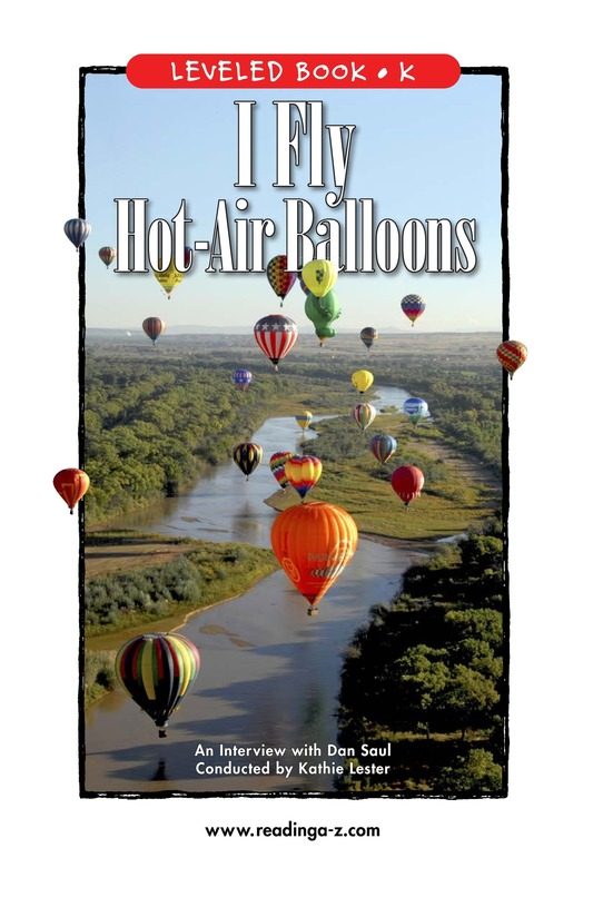 Book Preview For I Fly Hot-Air Balloons Page 1