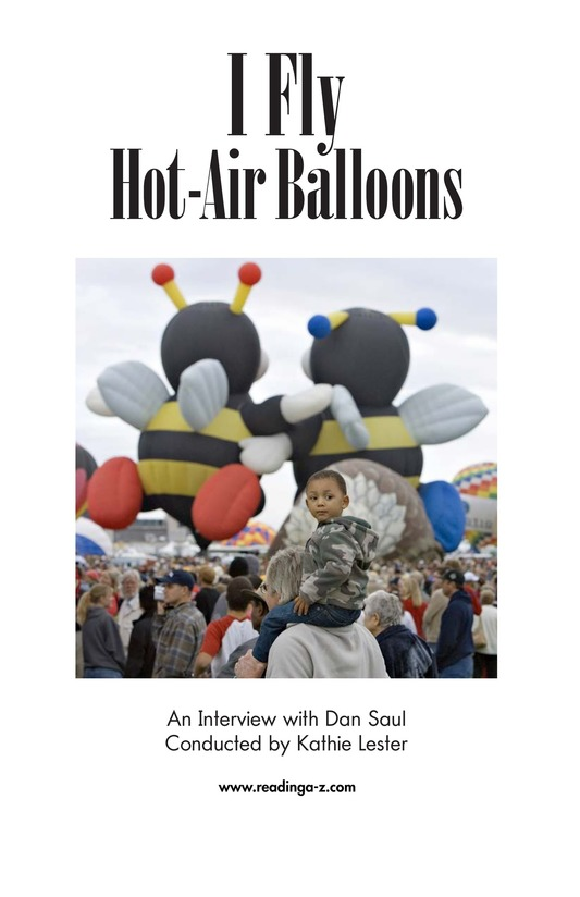 Book Preview For I Fly Hot-Air Balloons Page 2