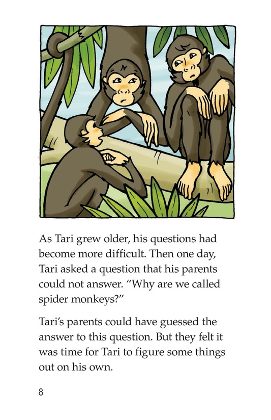 Book Preview For Spider Monkey's Question Page 8