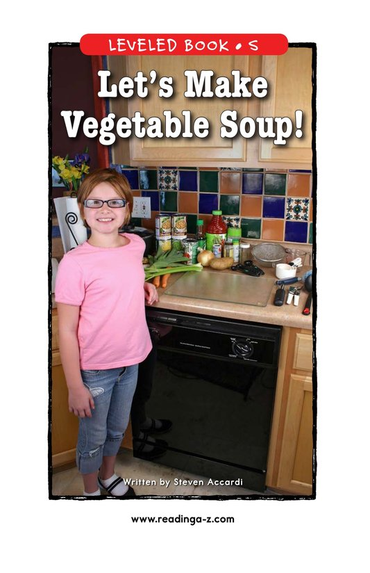 Book Preview For Let's Make Vegetable Soup Page 1