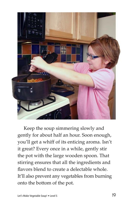 Book Preview For Let's Make Vegetable Soup Page 19