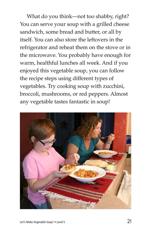 Book Preview For Let's Make Vegetable Soup Page 21
