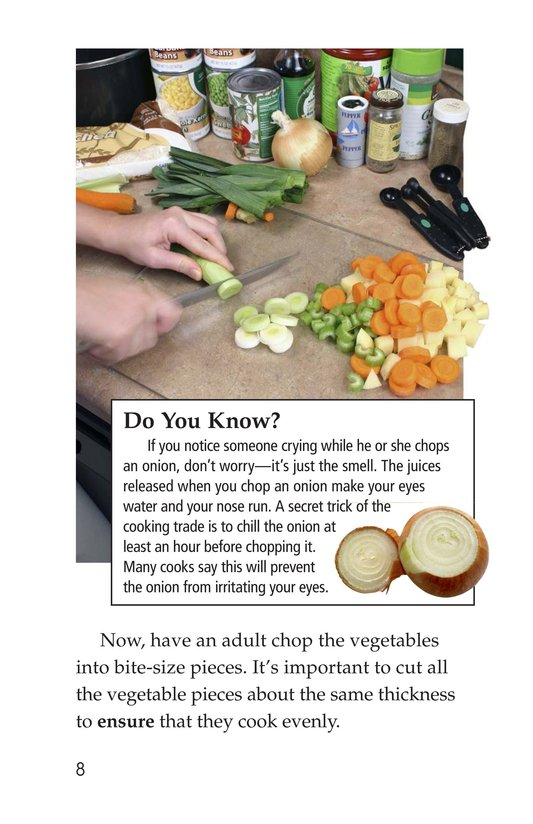 Book Preview For Let's Make Vegetable Soup Page 8