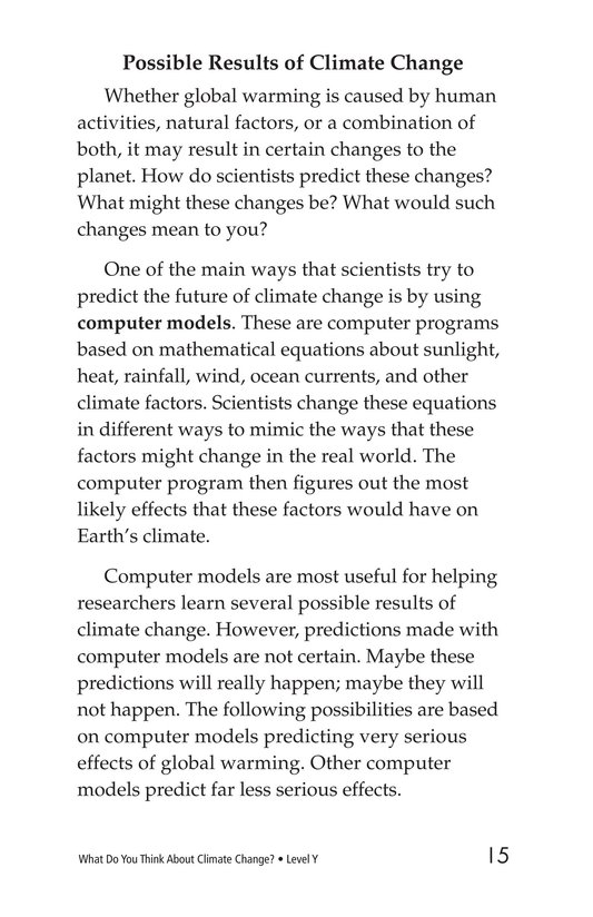Book Preview For What Do You Think About Climate Change? Page 15