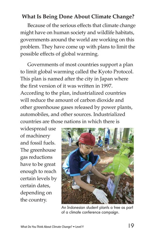 Book Preview For What Do You Think About Climate Change? Page 19
