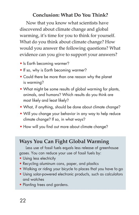 Book Preview For What Do You Think About Climate Change? Page 22