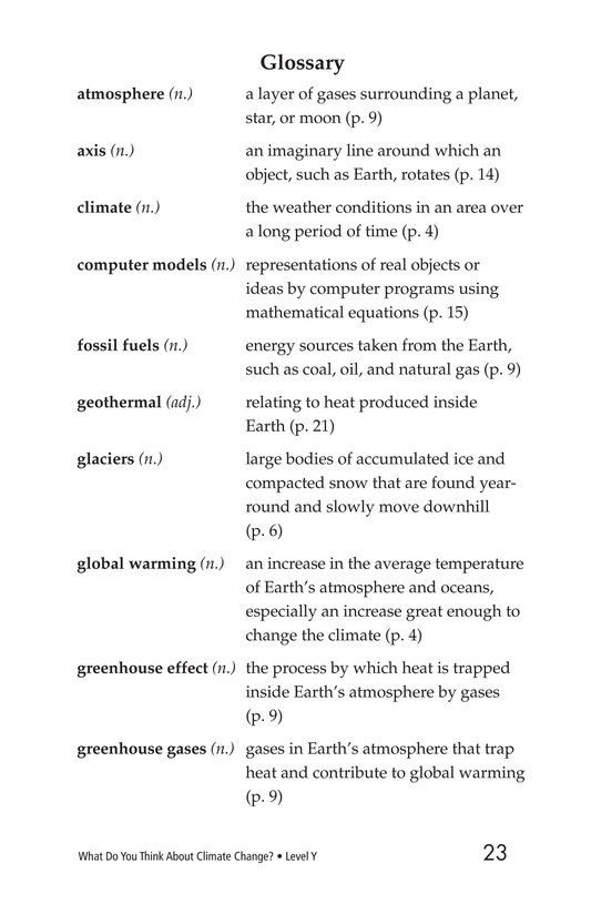 Book Preview For What Do You Think About Climate Change? Page 23
