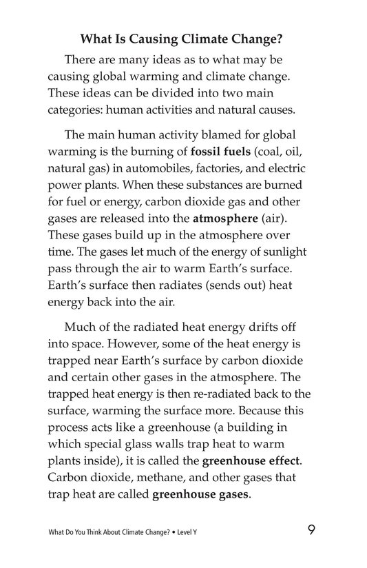 Book Preview For What Do You Think About Climate Change? Page 9
