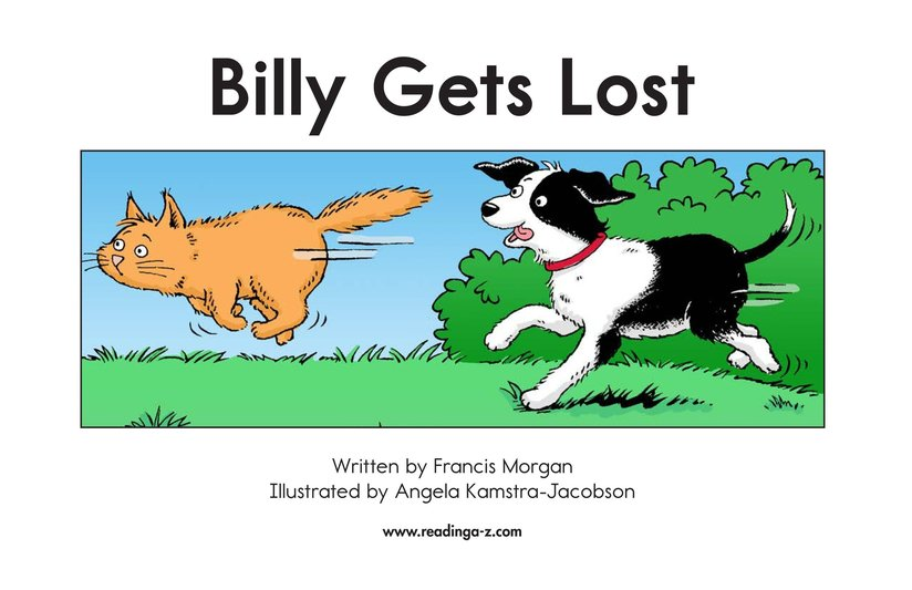 Book Preview For Billy Gets Lost Page 2