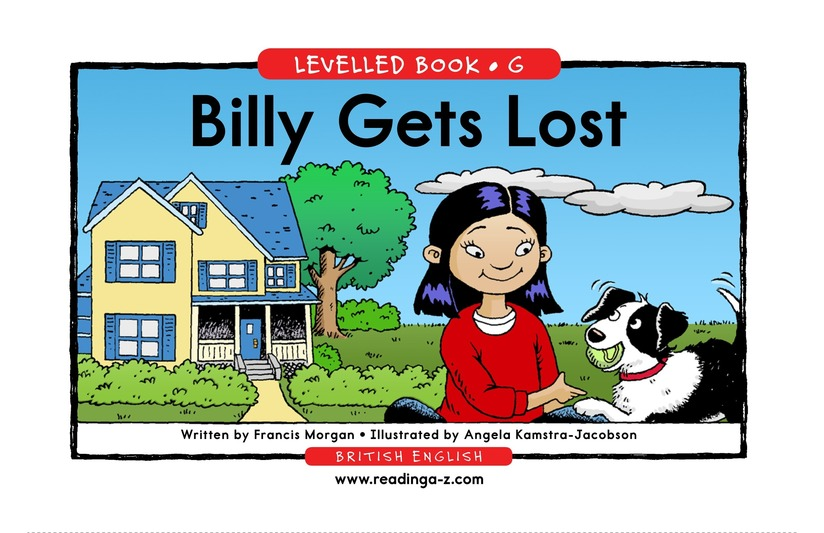 Book Preview For Billy Gets Lost Page 1